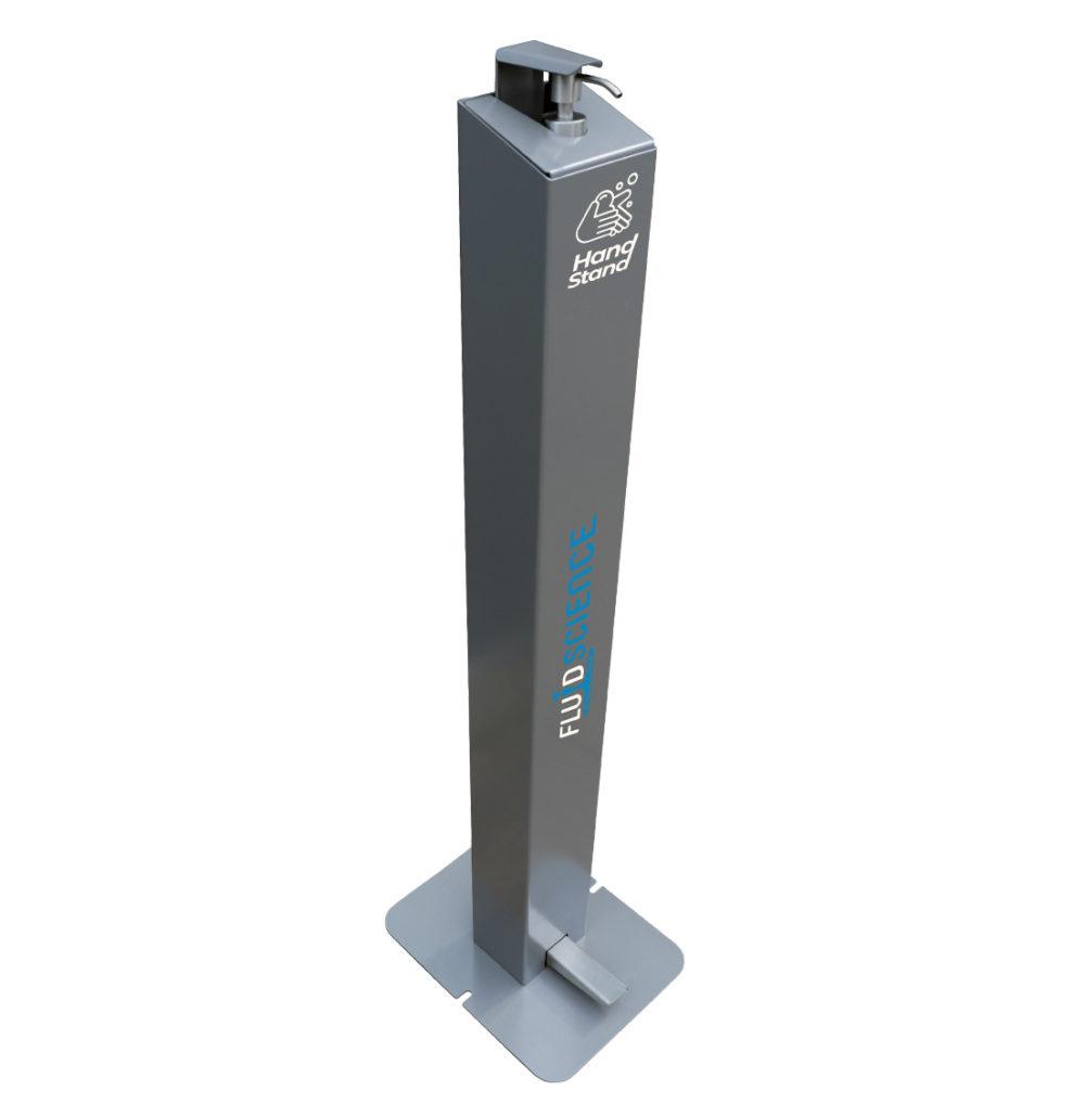 hand stand sanitiser station, sani-station, sanitiser dispenser, non contact sanitiser dispenser